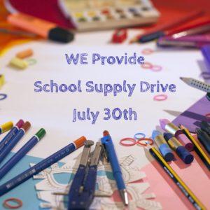 WE Provide School Supply Drive