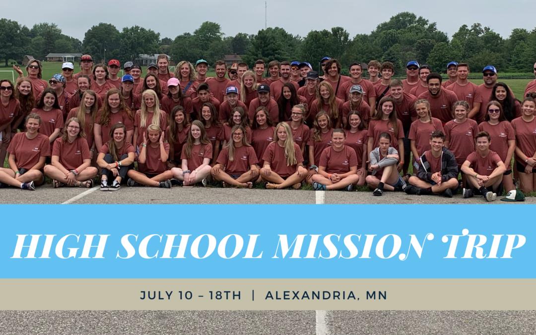 HS Mission Trip 2021 Registration