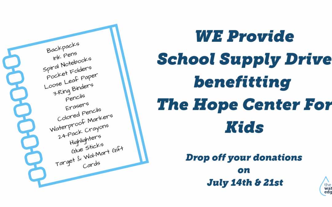 WE Provide School Supply Drive