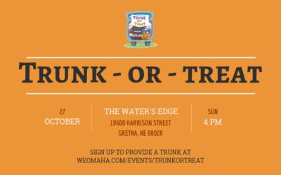 Trunk-Or-Treat Volunteers & Donations Needed