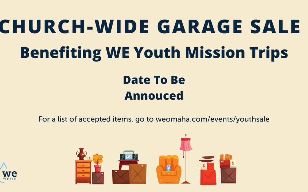 Church-Wide Garage Sale