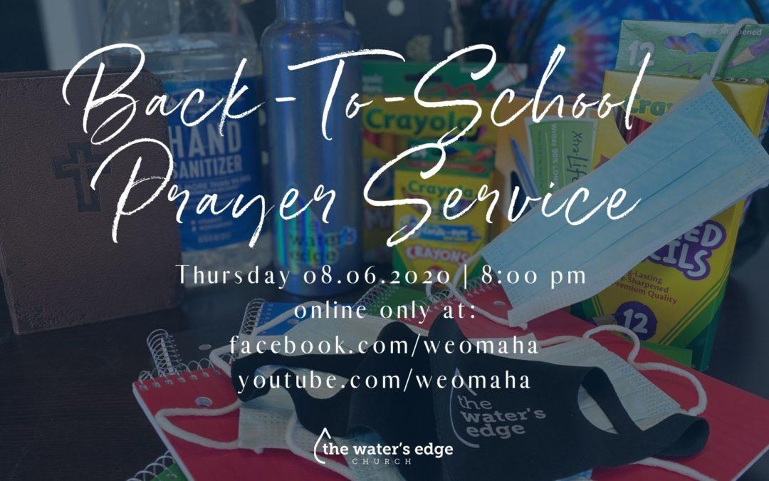 Online Back To School Prayer Service